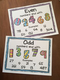 Posters for Odd and Even - FREEBIE from Odd and Even Numbers Freebie with Posters and Pick, Flip and Check cards