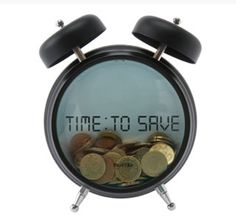 a look at this Black 'Time: To Save' Money Bank by Present Time on today! Diy For Kids, Gifts For Kids, Money Saving Box, Time Is Money, Money Today, Jack In The Box, Money Bank, Save Your Money, Alarm Clock