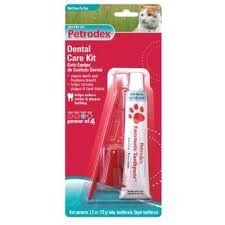 Petrodex Cat Dental Care Kit, Malt Toothpaste With 2 Toothbrushes