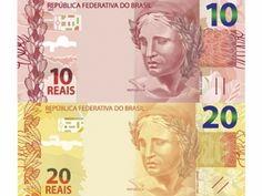 Novas notas de R$ 10 e R$ 20 serão lançadas nesta segunda-feira   - O Banco Central (BC) vai lançar na próxima segunda-feira (23) as cédulas de R$ 10 e R$ 20 da segunda família do real. Em dezembro de 2010, o BC já havia lançado as cédulas de R$ 50 e R$ 100.    Na época, a instituição informou que o lançamento era necessário para dar às cédulas recursos gráficos e elementos antifalsificação mais modernos. As notas de R$ 2 e R$ 5 serão lançadas em 2013, ainda sem data definida.   De acordo…