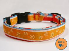 "Dog collar pattern. ""Designing your own collar is easy and fun!"" #dog #collar #sewing pattern"