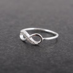 Infinity Sterling Silver Ring. $28.00, via Etsy.