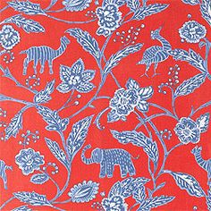 PatternBatik –Fabric  CollectionSweet Life  ColorwayRed on Blue  SKUF96149