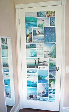 So easy to make but sooo pretty! If you havea brown or dark door, just put pictures with a darker theme or friends! <3