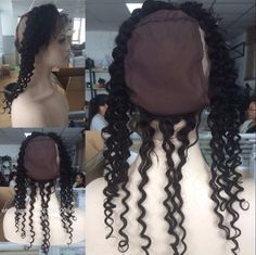 Brazilian Deep Wave 360 Lace Frontal Band 8A Unprocessed Virgin Hair Full Lace Frontal Closure 360 New Style Natural Hairline