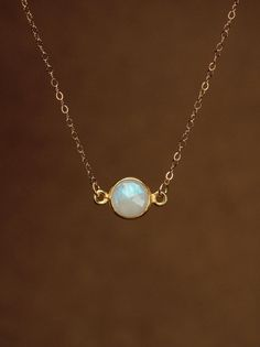 Moonstone necklace  gold moonstone  june birthstone  a by BubuRuby, $36.00