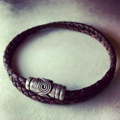 Men's leather wrap bracelet made by Dizzy Bees, found on Facebook.