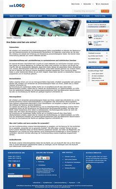 Contentseite des TLC Magento Onlineshop Basic.  Mehr unter: http://www.tlc-communications.de/produkte/e-commerce/onlineshop-basic.html