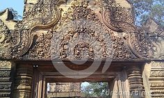 Banteay Srei is known for the intricacy of its carvings.