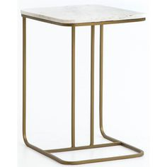 Adalley C Table, White Marble - End Tables - Accent Tables - Furniture