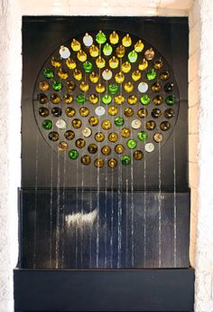 glass bottle projects | ... type glass bottle water feature and multiple glass bottle windows in a