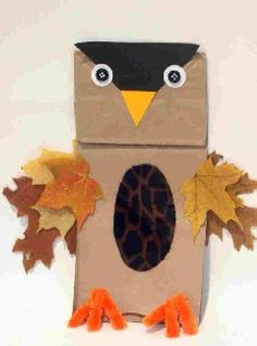 Cute Owl craft! If only I had found this a week ago, I could have done it!