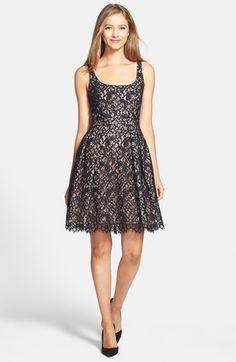 Shoshanna 'Svetlana' Lace Fit & Flare Dress | Nordstrom
