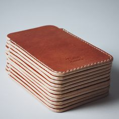 iPhone 6 sleeves also available for iPhone 5 and iPad mini :) #timogoods #leather #leatherwork #handmade #madeinchile