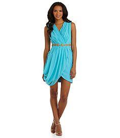 Nick Verreos BeadedWaist Dress #Dillards - nice dress to buy for a night out....