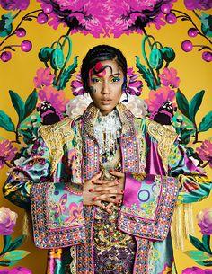 Artwork for Illustrado magazine Foto Fashion, Fashion Shoot, Editorial Fashion, Editorial Photography, Portrait Photography, Fashion Photography, Floral Fashion, Colorful Fashion, Fridah Kahlo