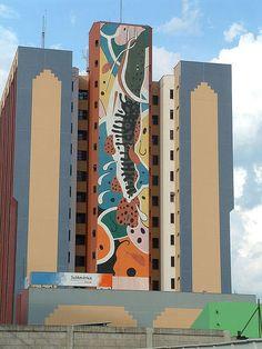 1 cuiaba - Cuiabá – Wikipédia, a enciclopédia livre - arte num edifício da cidade