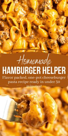 Homemade Hamburger Helper, Recipes With Hamburger, Supper Ideas With Hamburger, Beef Dishes, Pasta Dishes, Crockpot Recipes, Cooking Recipes, Chef Recipes, Recipies