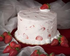 Strawberry Cake from Ambrosia Bakery in BR.  I haven't had it in years, but it is so damn good...The photo, on the other hand, is super cheesy.