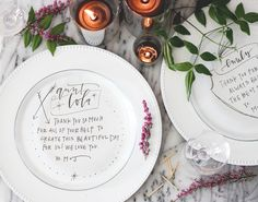 Oh So Beautiful Paper: DIY Tutorial: Custom Hand Lettered Plate Chargers