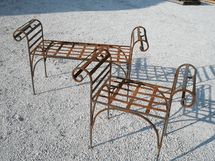 Wrought Iron King's Bench 2 Great Sizes - Outdoor  or Indoor Seating