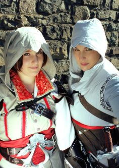 Me as Altair and highfrency as Ezio from Assassin's Creed Assassins Creed Series, Assassin's Creed, Addiction, Fandom, Cosplay, Guys, Character, Fashion, Moda