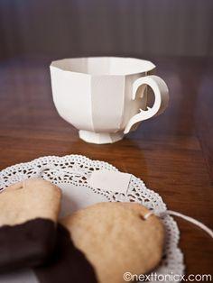 paper teacup . . . fun little project for a little tea party favor