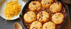 Chicken Chili Bake with Chipotle Cheddar Biscuits | Wisconsin Milk Marketing Board