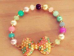 pulsera moño de colores