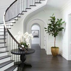 Brentwood foyer by designer Adam Hunter