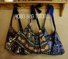Hobo Bags Tutorial from @chocolatechocoalteandmore  great project for a beginner #sewing #craft