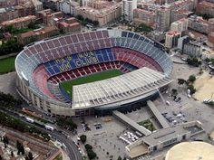 Camp Nou, home of Futbol Club Barcelona. Camp Nou Barcelona, Fc Barcelona, Soccer Stadium, Football Stadiums, Fifa Football, Barcelona Architecture, Spain And Portugal, World Of Sports, Neymar Jr