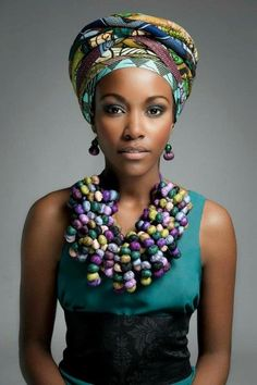 Love the head scarf and necklace.