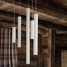 Unique, fun, and modern. These A-Tube Pendant Lights are a great way to bring in an eye catching accents without distracting from the products being sold in the store.