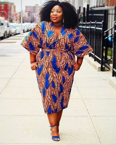 Want some skin-flaunting plus size dresses for an auspicious occasion? Check out some these trending plus size dresses. African Dresses For Women, African Print Dresses, African Attire, African Wear, African Fashion Dresses, African Inspired Fashion, African Print Fashion, Fashion Prints, Shweshwe Dresses