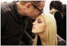 Anja Rubik - ELIE SAAB Ready-to-Wear Autumn Winter 2012-13 Backstage