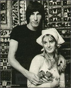 Roger Waters with his first wife Judith