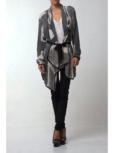 Religion Clothing Cardigan Union Jack In Grey/Black.