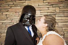 Darth Vader prop {Real Plus Size Wedding} Movie Themed Wedding | Stephanie Beach Photography