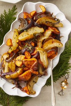 Roasted Sweet Potato, Pear, and Onion