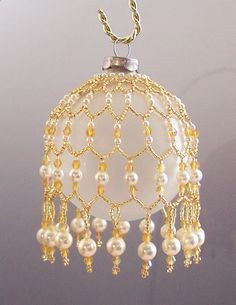 Free Beaded Christmas Ornament Covers | Beaded Ornament Cover Patterns