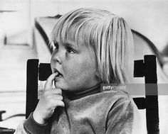 Prince Willem-Alexander, aged 4, in a photo taken by his father Prince Claus, 28th April 1971