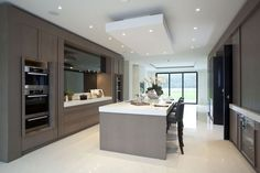 Soft brown modern kitchen