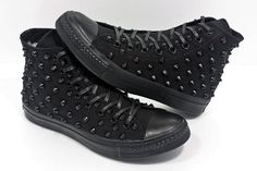black studded converse