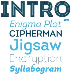 Intro Font Family, by Fontfabric