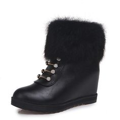 platform boots women wedges ankle boots for women snow boots winter shoes women platform botas plataforma mujer 2018 Winter Shoes For Women, Snow Boots Women, Winter Snow Boots, Winter Nail Designs, Wedge Ankle Boots, Platform Boots, Fur, Martin Boots, Shopping Mall