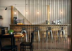 Café Black and Wine. Interior design of caffeteria in Vrchlabí.