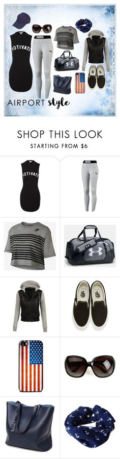 """Untitled #2019"" by moestesoh ❤ liked on Polyvore featuring Sans Souci, NIKE, LE3NO, Vans and F.A.M.T."