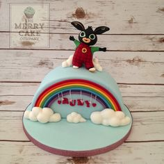 Fab birthday cake ideas for two year olds 3 Year Old Birthday Cake, Second Birthday Ideas, 3rd Birthday Cakes, Bing Cake, Dedication Cake, Bing Bunny, Kid Cupcakes, Funny Cake, Character Cakes