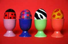 Funny patterns Easter eggs Free Photo